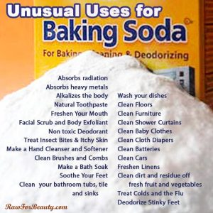 baking soda, good...